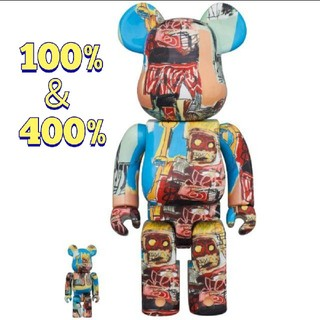 メディコムトイ(MEDICOM TOY)のBE@RBRICK JEAN-MICHEL BASQUIAT 100%&400%(フィギュア)