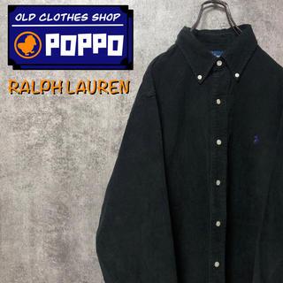 Ralph Lauren - ラルフローレン☆ワンポイント刺繍ロゴコーデュロイシャツ 90s