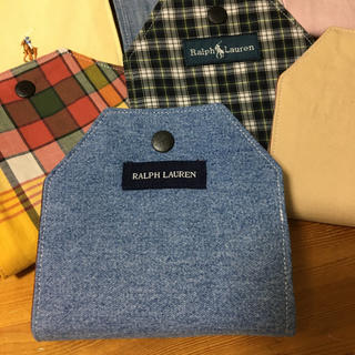 ラルフローレン(Ralph Lauren)のマスクケース 【デニム×緑チェック】(その他)