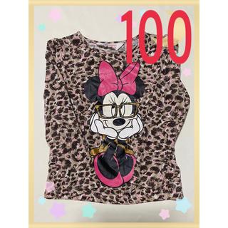 エイチアンドエム(H&M)のh&m トップス 女の子 98/104 アニマル柄 ミニーちゃん ディズニー(Tシャツ/カットソー)