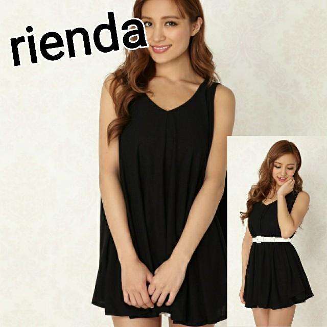 rienda(リエンダ)のrienda ボリュームフレアTOP タンクトップ チュニック eimy H&M レディースのトップス(タンクトップ)の商品写真