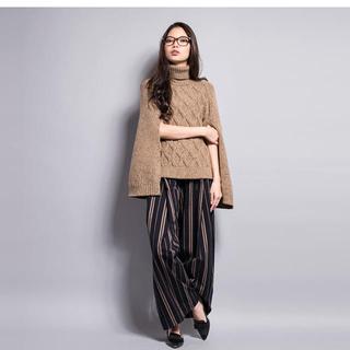 ダブルスタンダードクロージング(DOUBLE STANDARD CLOTHING)の未使用 ダブル スタンダード クロージング ヘンリボーンワイドパンツ ストライプ(カジュアルパンツ)