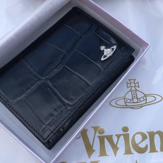 Vivienne Westwood - ヴィヴィアン ウエストウッド クロコ パスケース 名刺入れ 定期入れ  型押し