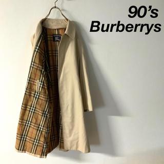 BURBERRY - 【美品】90's Burberry ノバチェック ステンカラーコート
