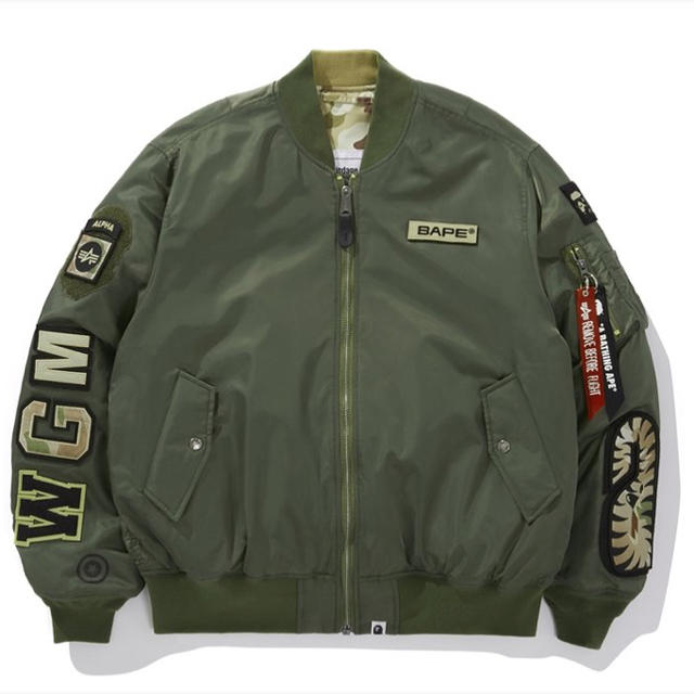 A BATHING APE(アベイシングエイプ)のBAPE X ALPHA INDUSTRIES REVERSIBLE MA-1 メンズのジャケット/アウター(ブルゾン)の商品写真