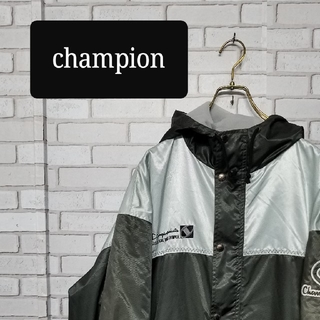 チャンピオン(Champion)のチャンピオン ハーフコート ナイロンジャケット ベンチコート 90s ビンテージ(ナイロンジャケット)