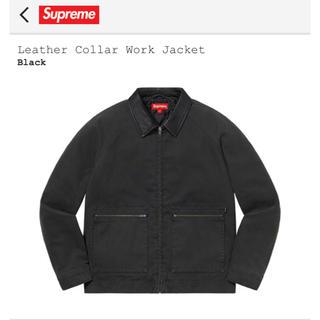 Supreme - 20aw supreme leather collar work jacket
