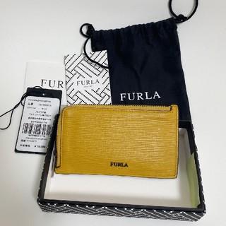フルラメンズ コインケース カードケース ミニ財布 マスタード色 FURLA
