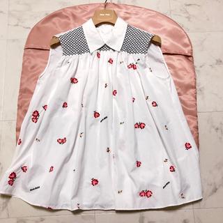 ミュウミュウ(miumiu)のmiumiu♡20ss 刺繍ブラウス(シャツ/ブラウス(半袖/袖なし))