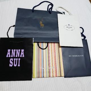 アナスイ(ANNA SUI)のブランド紙袋 ショップ袋 5枚セット ポールスミスなど(ショップ袋)