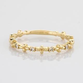 ノジェス(NOJESS)のノジェス K10 ダイヤモンド ミモザ 指輪  NOJESS agete(リング(指輪))