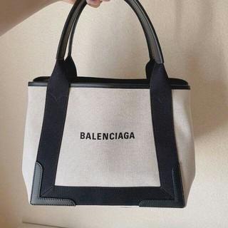 Balenciaga - BALENCIAGA/バレンシアガ ネイビーカバ S キャンバス トートバッグ