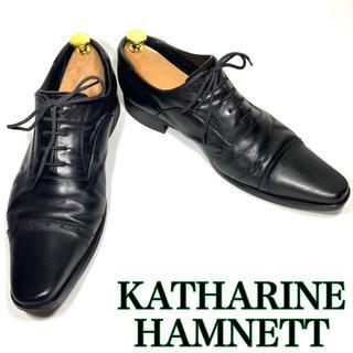 キャサリンハムネット(KATHARINE HAMNETT)のキャサリンハムネット 革靴 ストレートチップ 25.5cm ブラック(ドレス/ビジネス)