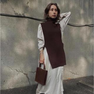 Ameri VINTAGE - Ameri VINTAGE☆ VEST LAYERED SHIRT DRESS