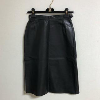 ロエベ(LOEWE)のロエベ♡レザースカート(ひざ丈スカート)