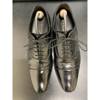 リーガル(REGAL)のREGAL リーガル ストレートチップ 本革黒 24.5cm 使用回数少なめ美品(ドレス/ビジネス)