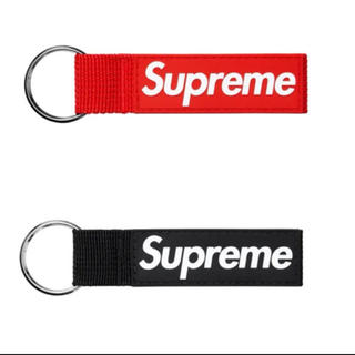シュプリーム(Supreme)の赤&黒セット Supreme Webbing Keychain キーチェーン(キーホルダー)