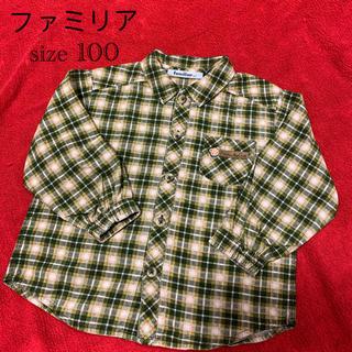 familiar - ファミリア チェックシャツ