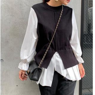 ジャスグリッティー(JUSGLITTY)の未使用ドッキングシャツ ブラック(ニット/セーター)