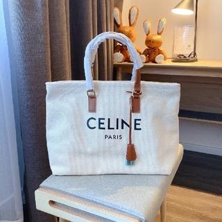 セリーヌ(celine)の国内完売 人気◆セリーヌ◆ カバ◆キャンバス トートバッグ ロゴ(トートバッグ)