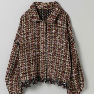 JEANASIS - ツイードリバーシブルショートジャケット