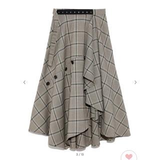 フレイアイディー(FRAY I.D)のfrayid チェックツィードスカート(ロングスカート)