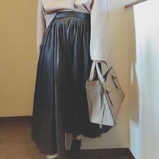 ZARA - zara  ♡ フェイクレザー ロングスカート
