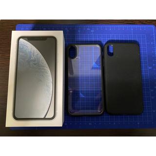 Apple - 美品!iPhone XR 64GB SIMフリー 白 付属品完備 ケース2個