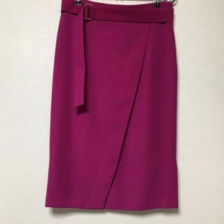 Pinky&Dianne - ダブルサテンラップデザインスカート