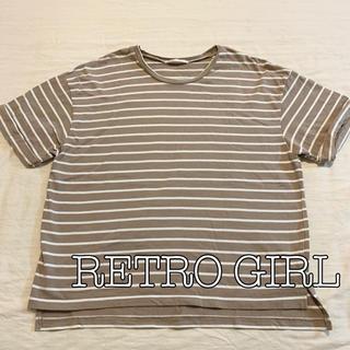 レトロガール(RETRO GIRL)の[美品]レトロガール ボーダーTシャツ(Tシャツ(半袖/袖なし))