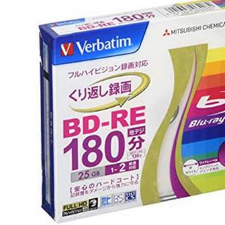 ミツビシケミカル(三菱ケミカル)の【三菱ケミカル】Verbatim くり返し録画用 BD-RE 2枚(DVDプレーヤー)