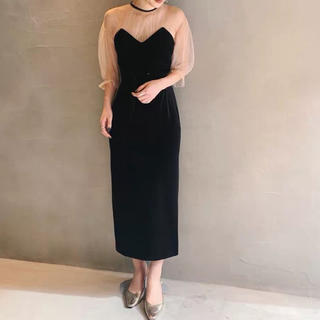 Ameri VINTAGE - アメリヴィンテージ TULLE SLEEVE TIGHT DRESS