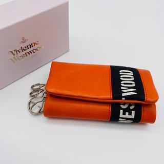 Vivienne Westwood - 【新品、箱あり】ヴィヴィアンウエストウッド キーケース5連 ロゴベルト オレンジ