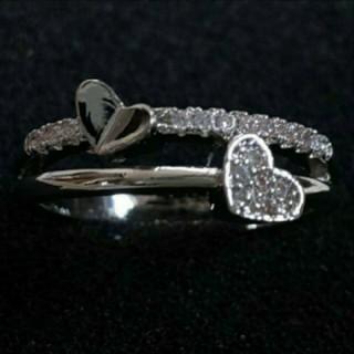 SWAROVSKI - f84🌸ナーシサス🌸 真鍮 ダイヤモンドキュービックジルコニア リング