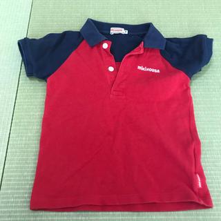 mikihouse - Tシャツ 100cm ミキハウス ポロシャツ 赤 ネイビー