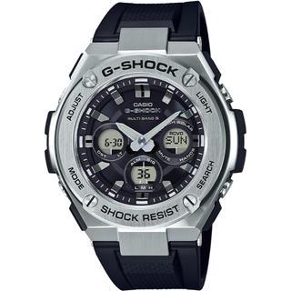 ジーショック(G-SHOCK)のカシオ G-SHOCK Gスチール ミッドサイズ 電波ソーラー腕時計 ブラック(腕時計(アナログ))
