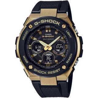 ジーショック(G-SHOCK)のカシオ G-SHOCK Gスチール ミッドサイズ 電波ソーラー 腕時計 ブラック(腕時計(アナログ))