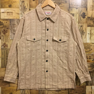 McGREGOR - マックレガー レーヨン 麻 ボタンダウンシャツ 長袖シャツ 開襟シャツ 厚手