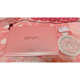 SONY - SONY VAIO ピンク×ホワイト ノートパソコンWindows10/マイメロ