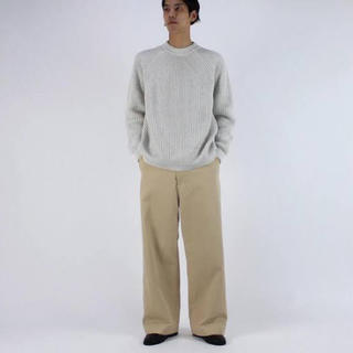 COMOLI - Auralee WASHED FINX CHINO WIDE  チノパン