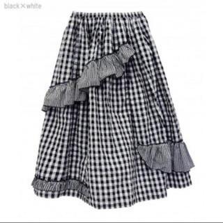 ハニーミーハニー(Honey mi Honey)のギンガムチェックフリルスカート(ロングスカート)