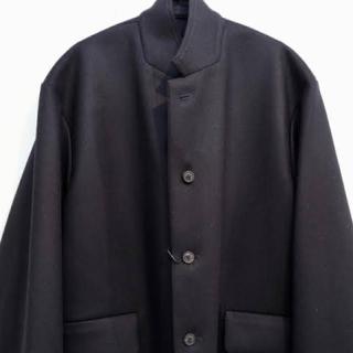 SUNSEA - uru wool over jacket navy