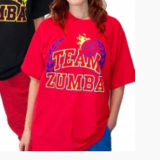zumbaティシャツ 赤
