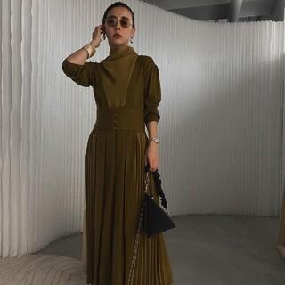 Ameri VINTAGE - SIDE PLEATS KNIT DRESS