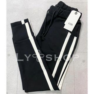 GYDA - GYDA 新品 サイドラインパンツ ブラック