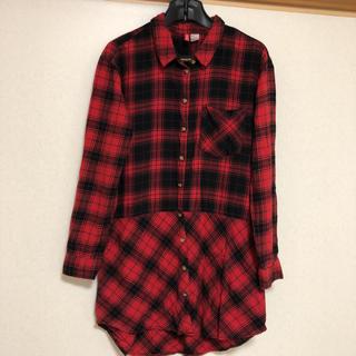 H&M - H&M ロングチェックシャツ