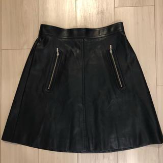 FOXEY - FOXEY NEW YORフェイクレザースカート