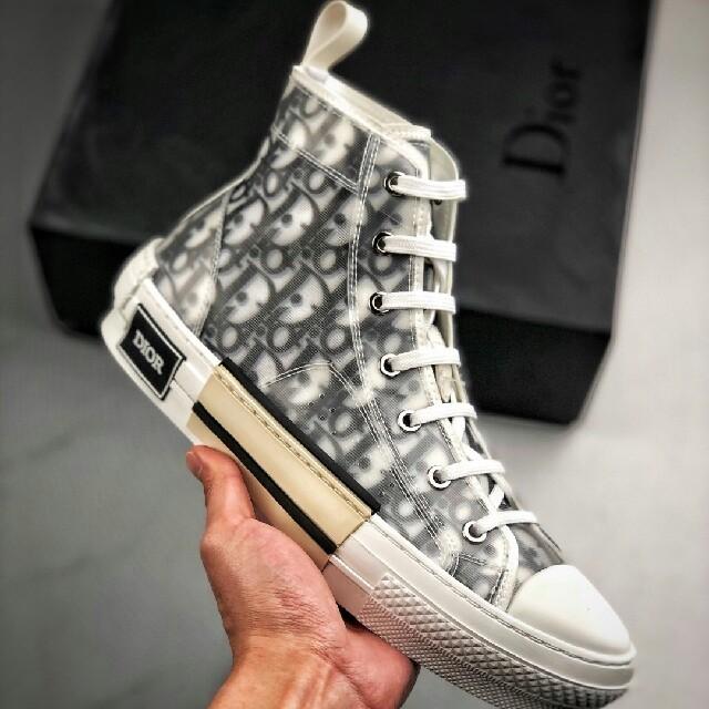 Dior(ディオール)のDior B23 Oblique High Top Sneakers メンズの靴/シューズ(スニーカー)の商品写真