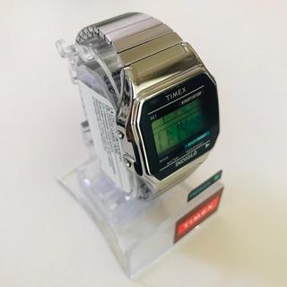 タイメックス(TIMEX)の即納 アメリカ正規買付 timex シルバー 腕時計 supremeベースモデル(腕時計(デジタル))