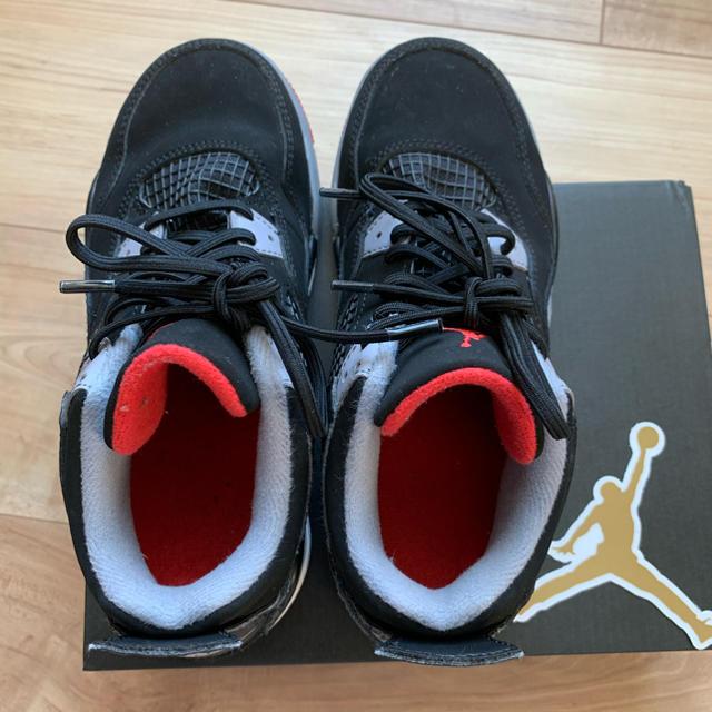 NIKE(ナイキ)のjordan4 bred kids 20cm  キッズ/ベビー/マタニティのキッズ靴/シューズ(15cm~)(スニーカー)の商品写真